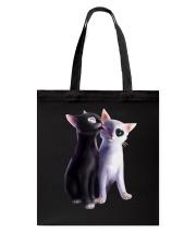 Cat - Love You Tote Bag thumbnail