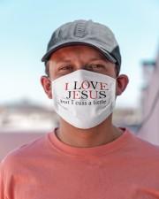 I Love Jesus G82507 Cloth face mask aos-face-mask-lifestyle-06