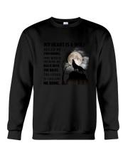 My Heart Is Wolf Crewneck Sweatshirt thumbnail