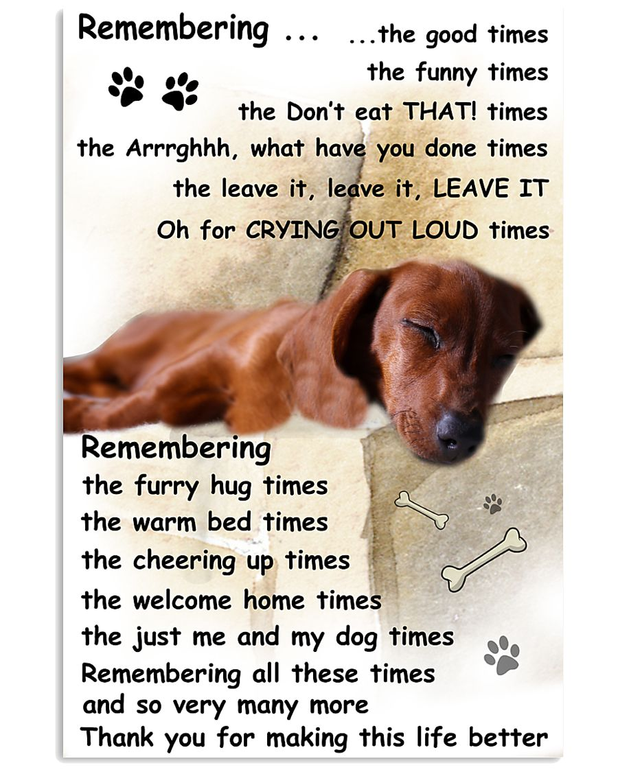 Dachshund Remembering 11x17 Poster