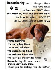 Dachshund Remembering 11x17 Poster front