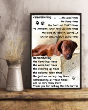 Dachshund Remembering 11x17 Poster lifestyle-poster-3