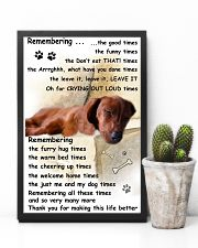 Dachshund Remembering 11x17 Poster lifestyle-poster-8