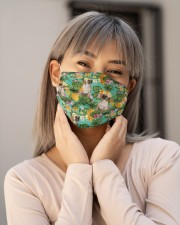 Tropical Pineapple Pug H25818 Cloth face mask aos-face-mask-lifestyle-17