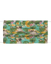 Tropical Pineapple Pug H25818 Cloth face mask front