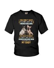 NYX - My Baby French Bulldog - 1104 Youth T-Shirt thumbnail