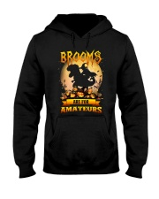 Dinosaur Halloween - Brooms are for amateurs Hooded Sweatshirt thumbnail