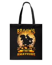 Dinosaur Halloween - Brooms are for amateurs Tote Bag tile