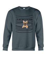 French Bulldog In The Blinds  Crewneck Sweatshirt thumbnail