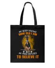 Miniature Pinscher Know Tote Bag thumbnail