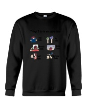 Book - Reading Spare Time Crewneck Sweatshirt thumbnail