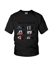 Book - Reading Spare Time Youth T-Shirt thumbnail