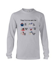 Book - Reading Spare Time Long Sleeve Tee thumbnail