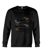 Family - To My Son T-rex Crewneck Sweatshirt thumbnail