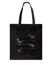 Family - To My Son T-rex Tote Bag thumbnail