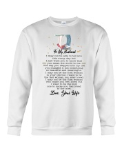 Family To My Husband You Are My World Crewneck Sweatshirt thumbnail