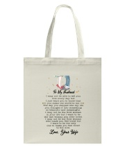 Family To My Husband You Are My World Tote Bag thumbnail