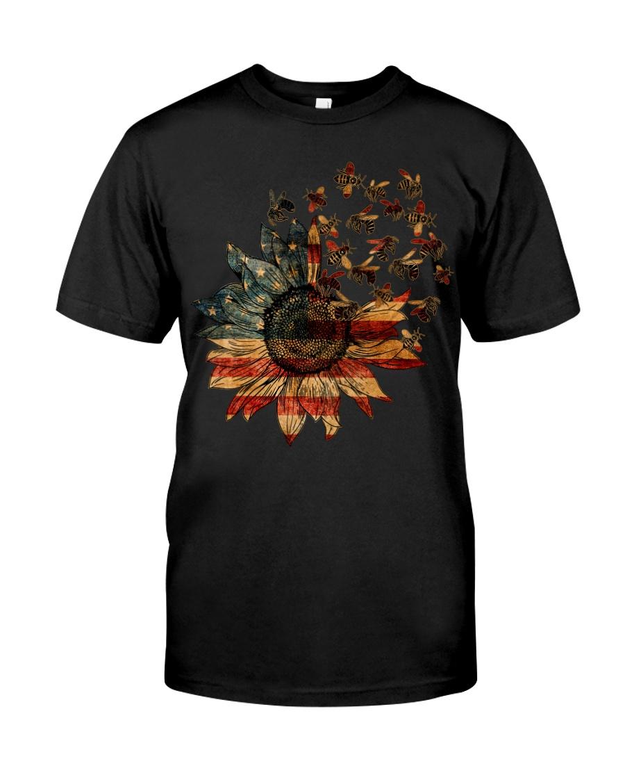 Bee USA Flower T5tf  Classic T-Shirt