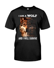 Wolf I Will Survive Classic T-Shirt thumbnail