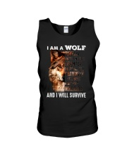 Wolf I Will Survive Unisex Tank tile