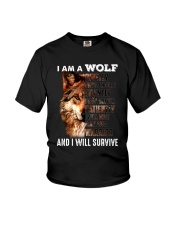Wolf I Will Survive Youth T-Shirt thumbnail