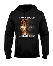 Wolf I Will Survive Hooded Sweatshirt thumbnail