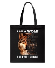Wolf I Will Survive Tote Bag thumbnail