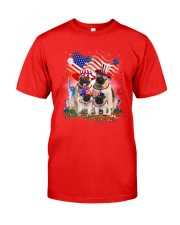 Pug USA Classic T-Shirt front