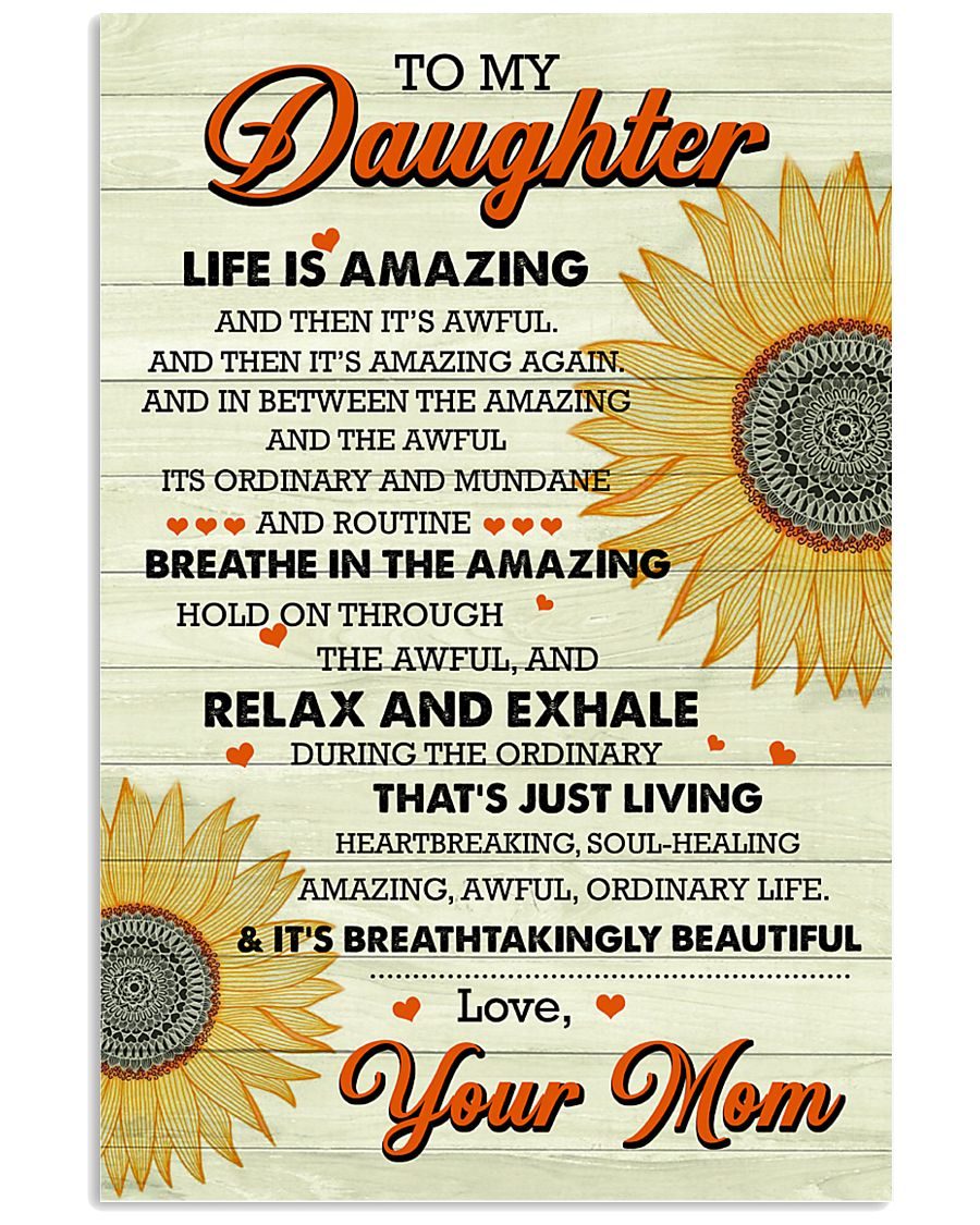 Family - Daughter Life Is Amazing 11x17 Poster