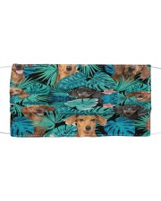 Dachshund Tropical H31709 Cloth face mask front