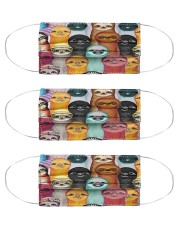 Colorful Sloth G82814 Cloth Face Mask - 3 Pack front