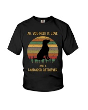 Love and a Labrador Retriever Youth T-Shirt tile
