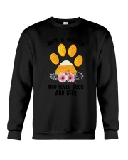 Dogs And Beer Crewneck Sweatshirt thumbnail