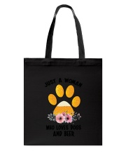 Dogs And Beer Tote Bag thumbnail