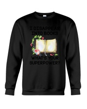 Book Disppear Into Book Crewneck Sweatshirt thumbnail