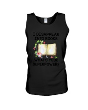 Book Disppear Into Book Unisex Tank thumbnail