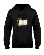 Book Disppear Into Book Hooded Sweatshirt thumbnail