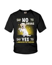 Dog Labrador Retriever Say No To Drugs Youth T-Shirt thumbnail