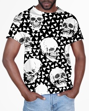 Skull Black And White T5TS All-over T-Shirt aos-all-over-T-shirt-lifestyle-front-03