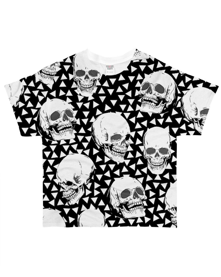 Skull Black And White T5TS All-over T-Shirt