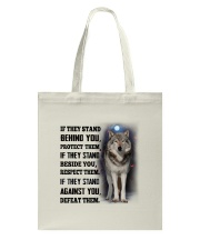 Wolf Behind You Tote Bag tile