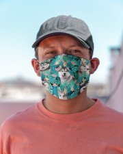 Siberian Husky Tropical H31705 Cloth face mask aos-face-mask-lifestyle-06