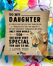 Horse - To My Special Daughter Square Pillowcase aos-pillow-square-front-lifestyle-17
