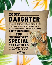 Horse - To My Special Daughter Square Pillowcase aos-pillow-square-front-lifestyle-29