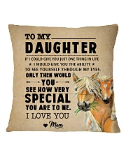 Horse - To My Special Daughter Square Pillowcase back