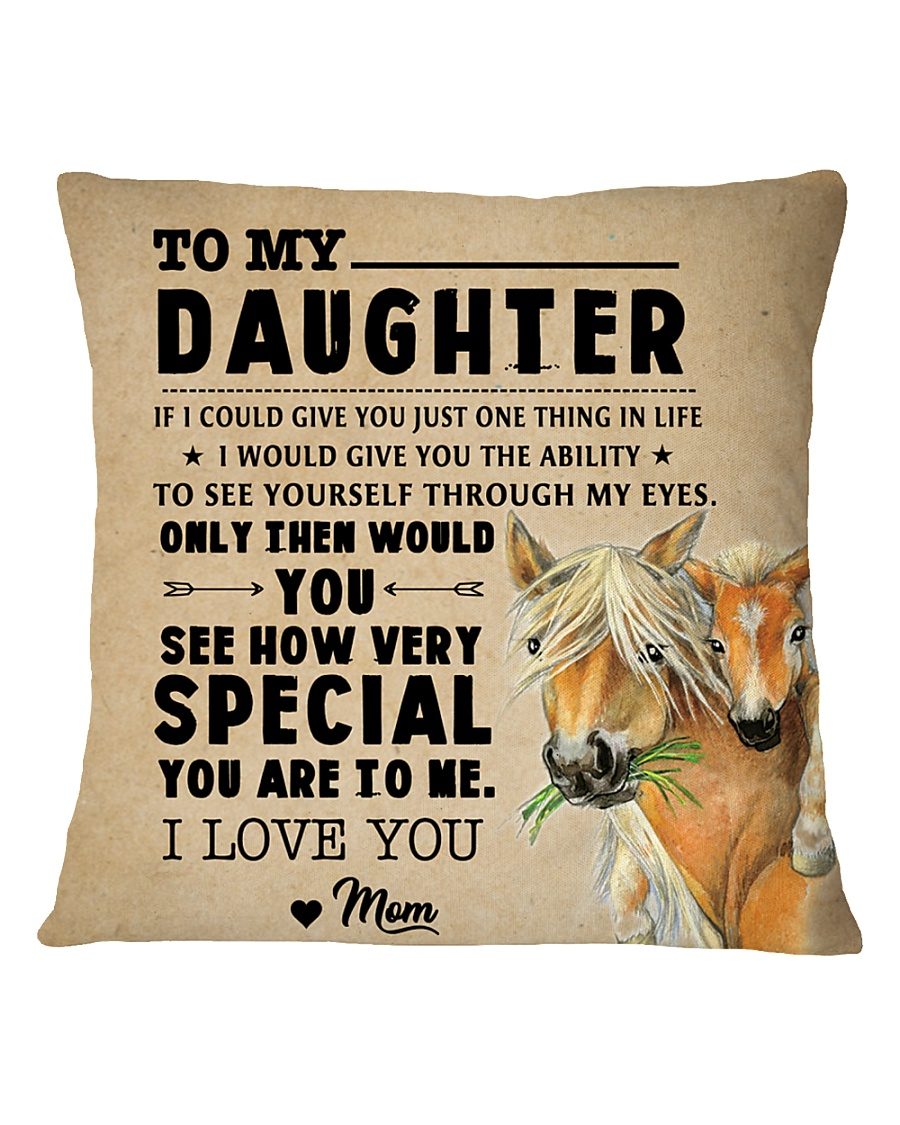Horse - To My Special Daughter Square Pillowcase