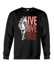 Horse Live Love Ride Crewneck Sweatshirt thumbnail