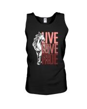 Horse Live Love Ride Unisex Tank thumbnail