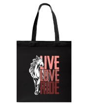 Horse Live Love Ride Tote Bag thumbnail