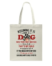 Dogs My Child Tote Bag thumbnail